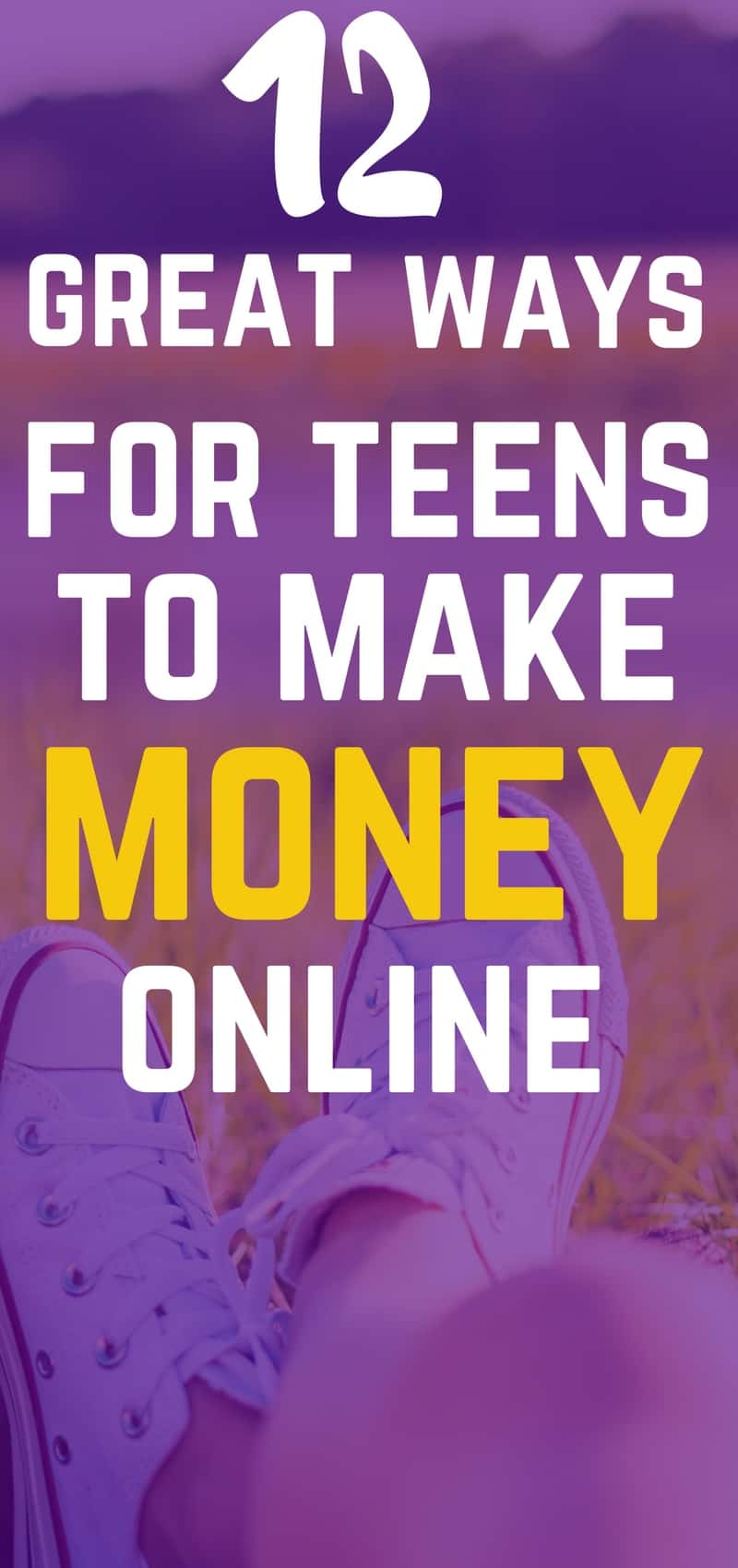 12 great ways for teens to make money online. Check them out now so that you can make some extra cash!