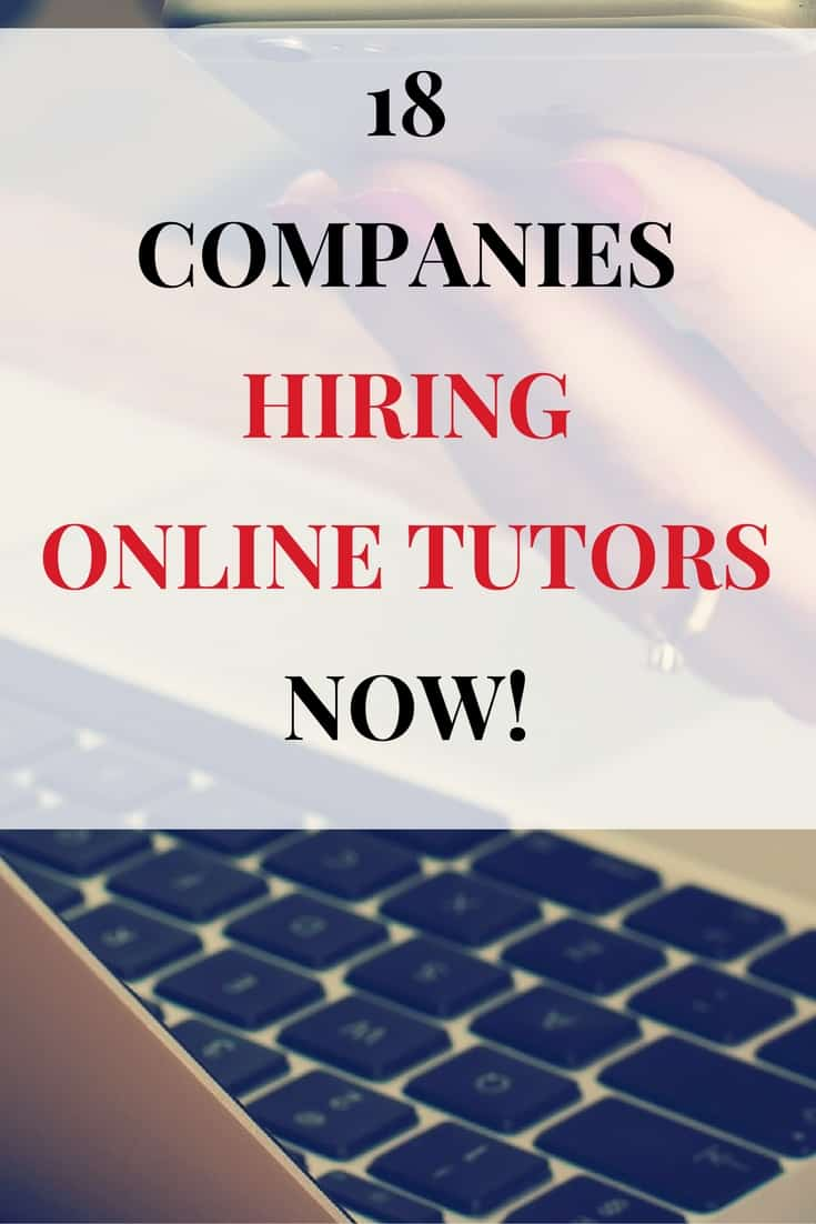 Online tutoring jobs at home