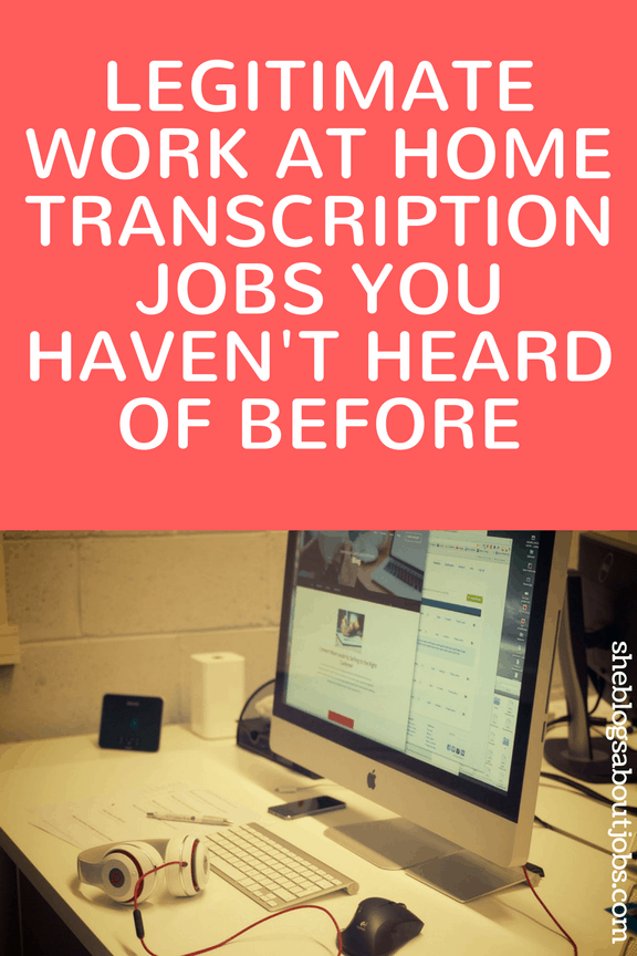 work at home transcription jobs online