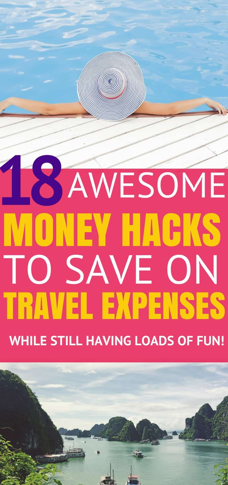 These 22 hacks to save insane amounts of money on travel expenses are seriously the best! I'm so happy I found these great tips and tricks! Now I can finally travel under budget without missing out on perks! Definitely pinning!