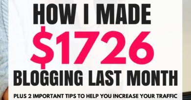 How I Made $1726 In One Month Using My Blog And Pinterest